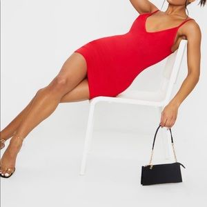 PrettyLittleThings - red bodycon dress
